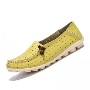 Yellow Casual Flat Shoes