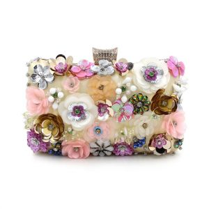 Floral Beaded Evening Clutch