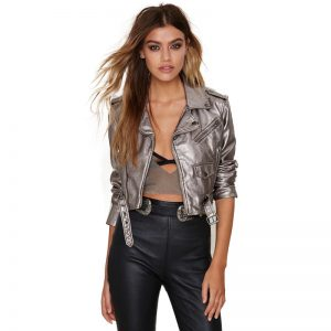 Leather Silver Jacket
