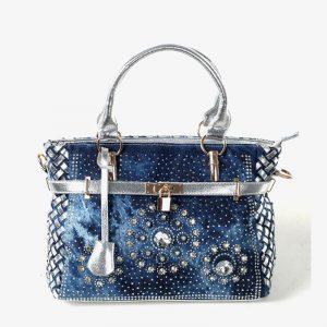 Shoulder Bag With Crystals