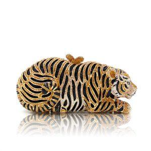 Crystal Tiger Clutch