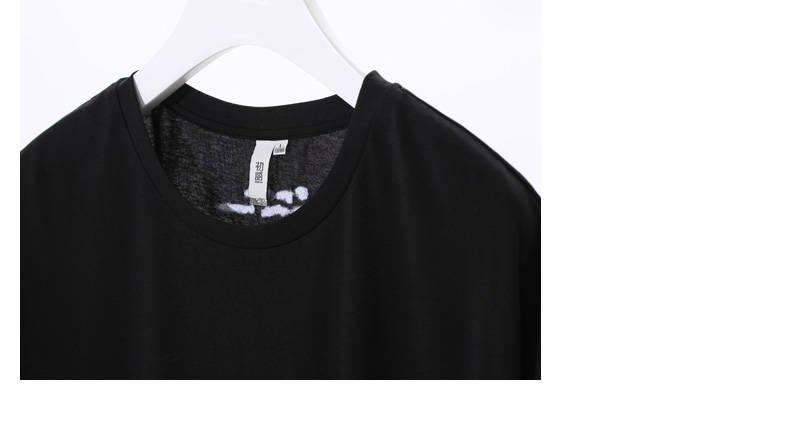 Quality T Shirt With Asymmetrical Pocket Black