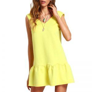 Ruffle Backless Mini Dress