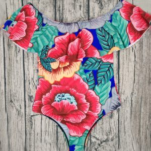 Off The Shoulder Ruffle Swimsuit