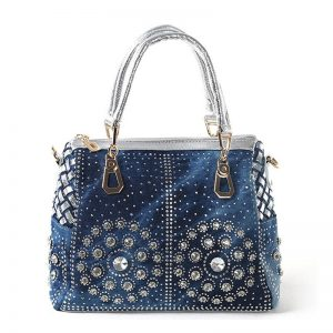 Denim Tote Handbag