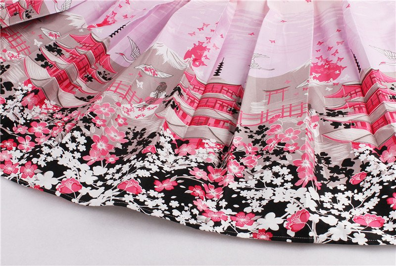 Printed Skirts in 18 Retro and Floral Styles High Waisted Midi 11